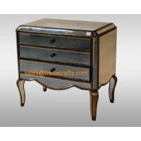 China Direct factory price antique glass venetian mirrored bedside cabinet  furniture on sale