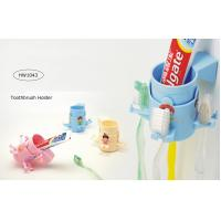 China TOOTHBRUSH & TOOTHPASTE HOLDER - 3 ASSORTED COLORS on sale
