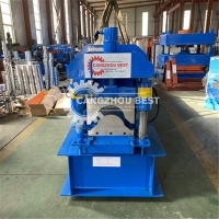 China 280mm Chain Driven 3kw Ridge Cap Roll Forming Machine for sale