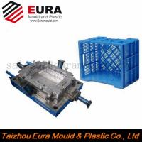 Quality Custom design plastic injection crate mold, storage turnover box mold, crate mould maker for sale