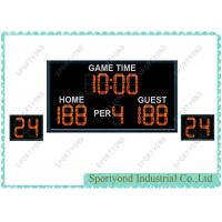 Remote Electronics Basketball Scoreboard with 24s Attack Timers and time display, red LED