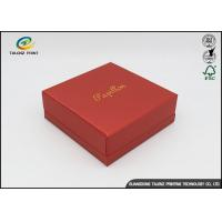 Buy Environmental Red Printing Cardboard Gift Boxes With Hot Stamping Surface Dispoal at wholesale prices