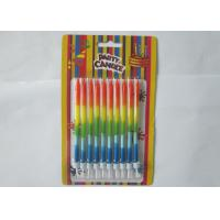 Best Colorful Kids Column Happy Birthday Cake Candles Dia 0.2 Inch No Drop wholesale