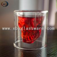 Best Glass skull double wall wine cups wholesale