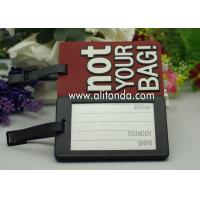 Quality Not Your Bag red luggage tag wholesale don't touch pink luggage tag supply boarding tag custom for sale