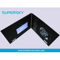 Quality Promotional LCD Video Brochure Free USB Cable Video Booklets With Durable Battery for sale