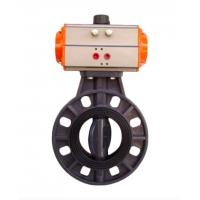 Quality DYDF series single door pneumatic butterfly valve single door butterfly valve pneumatic shut-off and throttling valve for sale