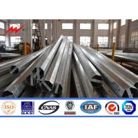 Quality 132kv Steel Monopole Electrical Power Transmission Poles For Electricity Distribution Line Project for sale