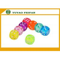 China Engraved Colorful Dots Transparent Dice Set Round 6 Sided Corner Dice Game Set on sale