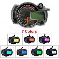 China 7 Color Adjustable Digital Motorcycle Speedometer LCD Digital Odometer 299 MPH/KPH Universal for motorcycle easy install on sale