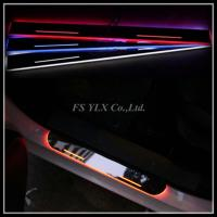 Quality For Mercedes Benz GLK GLA X156 W205 LED door sill plate light LED logo moving scuff light for sale