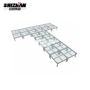 Quality Portable Outdoor Glass Floor Wedding Dance Stage 1m 2m 4m Length for sale