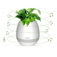 Best 2017 Touching electrical gift magic playing music led flower pot smart with bluetooth pots wholesale