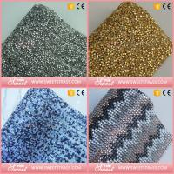 fashion hotfix square crystal rhinestone net mesh for lady's Bling Shoes
