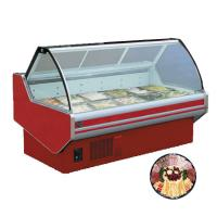 China 60hz R22 Refrigerant 2.5m Fresh Meat Display Chiller For Restaurant on sale
