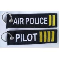 Best Air Police 2 Bars Pilot 4 Bars Fabric Embroidery Pilot Key Chains wholesale
