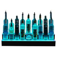 China 2 step  LED Lighted Liquor Bottle Display Shelves on sale