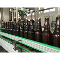 China Auto Glass Bottle Filling Machine , Carbonated Drink / Water Bottling Plant Equipment on sale