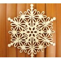 Best Wooden Snowflake Christmas Ornaments wholesale