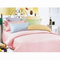 China 4-piece Bedding Set, Includes Duvet Cover, Bed Sheet and Pillow, with Solid Color on sale