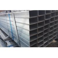 Quality BS1387 ERW Galvanized Steel Square Pipe , Q345 Zinc Coating Steel Rectangular Pipe for sale