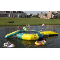 China Inflatable Water Trampoline Combo For Lake, Water Trampoline With Slide on sale