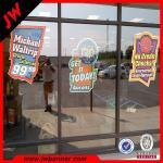 Quality Large format window gel sticker custom waterproof vinyl stickers for window for sale