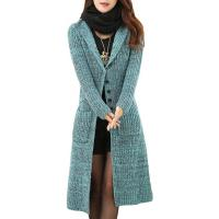 China Melange Cable Knit Womens Long Cardigans Women'S Button Front Cardigan Sweaters on sale