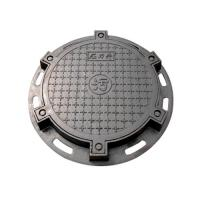 Quality Sand Blasting Cast Iron Manhole Cover Round Sanitary Sewer En124 D400 for sale