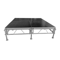 Quality Mobile Concert Event Aluminum Portable Stage 1x1m for sale