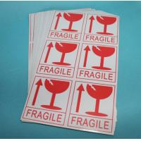 Quality Adhesive PVC Sticker Printing Fragile Shipping Labels For Cargo Security Delivery for sale
