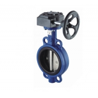 Quality 6 Inch Epoxy Gear Operator ISO 5211 Wafer Butterfly Valve for sale