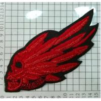 Best Skulls With Wings Embroidered Wire Bullion Badge With Skull Patch wholesale
