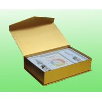 Quality Gold Art Paper Cosmetic Box Packaging For Skin Care / Cosmetic Cardboard Box for sale