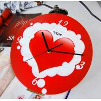 Quality Red Heart Home Decoration Art Contemporary Wall Clocks LY-025  for sale