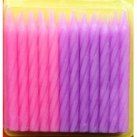 China Pink And Purple Color Spiral Cake Candles For Grils Birthday Party Decorative on sale