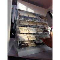Quality Metal White Powdered Granite Tile Display Racks Desktop For Retail Showroom for sale