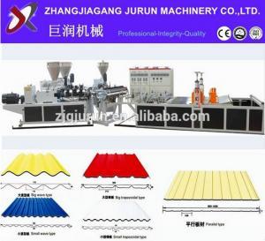Best pvc corrugated roof sheet making machine/price of corrugated pvc roof sheet wholesale