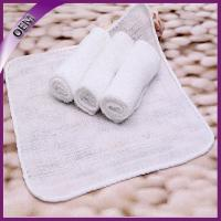 Quality 23*23cm plain white disposable facial towel for airplane for sale