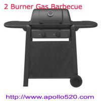 2 Burner Gas BBQ Barbecue Garden Camping Black