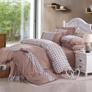 China coral fleece bedding sets 4pc bedclothes 100% Cotton Duvet/Comforter/Quilt Cover on sale