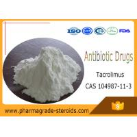 China White Powder Pharmaceutical Raw Materials Tacrolimus for Antibiotic Drugs , CAS 104987-11-3 on sale