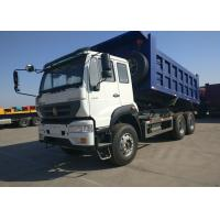 China 40 Ton White And Blue Sinotruk Golden Prince Heavy Commercial Dump Trucks on sale