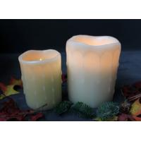 China DFL10091 LED flameless wax candle with dual timer/large dripping candle on sale