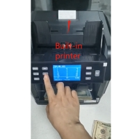 Quality FMD-4200 two pocket sorter mix value counting machine mad USD value counter with built-in printer for sale