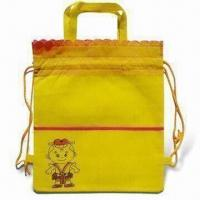 China Promotional Drawstring Bag with Handles, Available in Various Sizes and Colors on sale