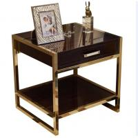 China High End Hotel Bedside Tables 1 Drawer For 5 Star , Marble Top Nightstand on sale