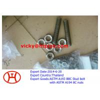 China ASTM A193 B8C stud bolt with ASTM B194 8C nuts on sale