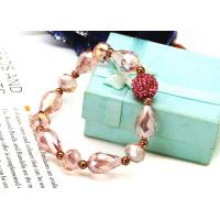 Best Crystal Beads with 12mm Fimo Ball Shamballa Bead Bracelet NP10029-209 wholesale
