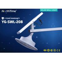 China 12V 6000K Integrated Solar Powered LED Wall Light For Garden / Roadway on sale